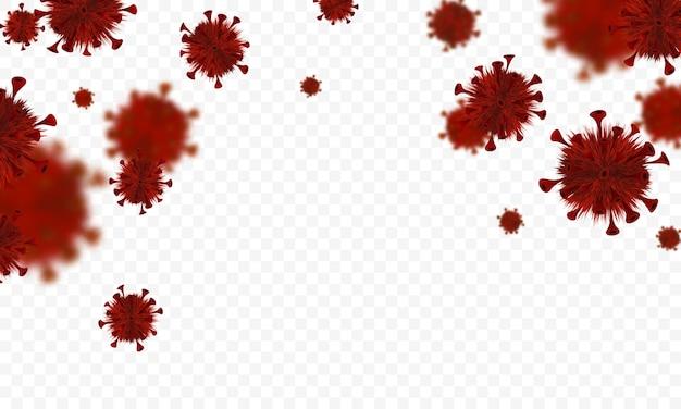 コロナウイルスまたはコロナウイルスの概念。 covid-19