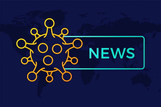 世界の最新ニュースの見出しcovid-19またはコロナウイルス。武漢イラストのコロナウイルス。
