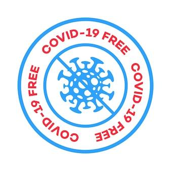 Зона, свободная от коронавируса, этикетка с вектором вспышка коронавируса, новый коронавирус, вирус ncov, противовирусная инфекция