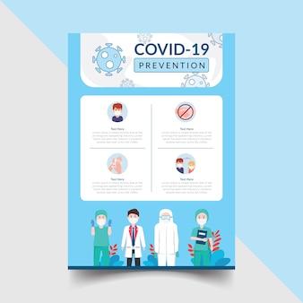 Covid prevention flyer template