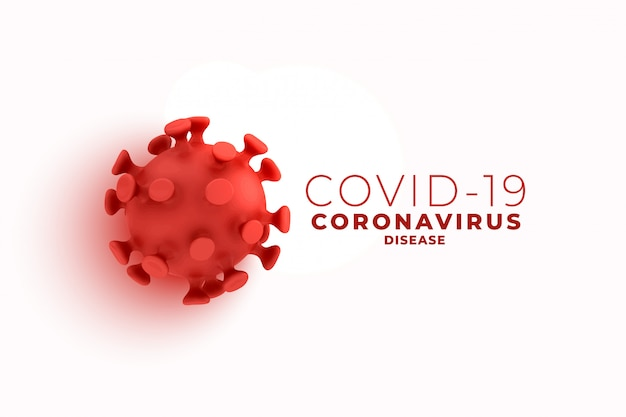 Covid19 coronavirus background with 3d cell design