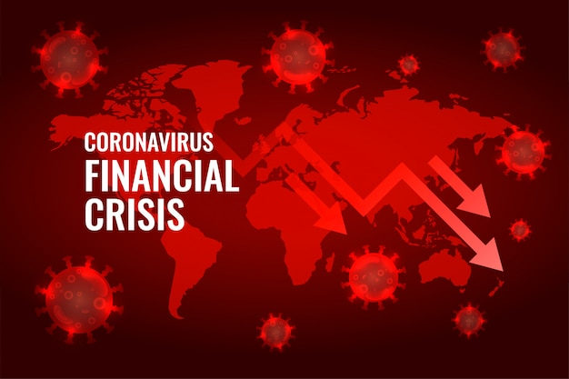 Covid19 coronavirus global economy downfall arrow background