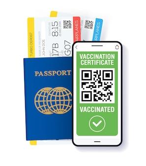 Covid19 immune passport app international digital vaccine certificate for free movement and travel