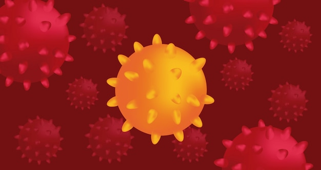 Covid19 particles pandemic campaign pattern  illustration design