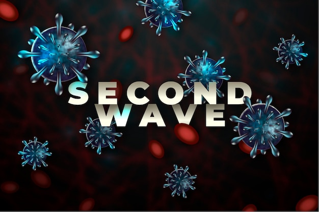Covid19 second wave background concept