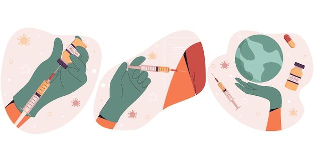 Covid19 vaccination poster vaccination against coronavirus worldwide coronavirus vaccine
