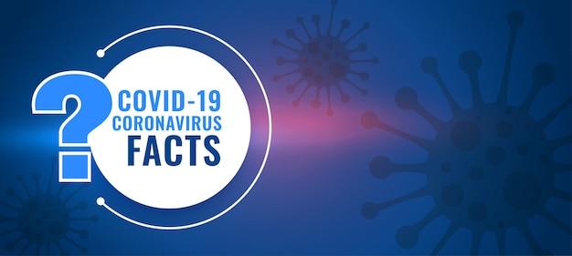 Covid19コロナウイルスの事実と質問と回答の背景