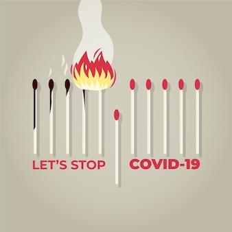 一致する概念停止covid19