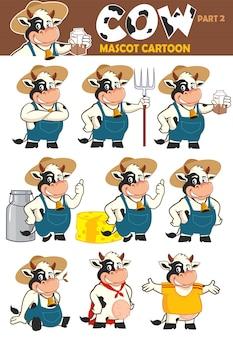 Cow cute mascot cartoon