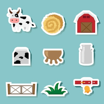 Cow farm icons