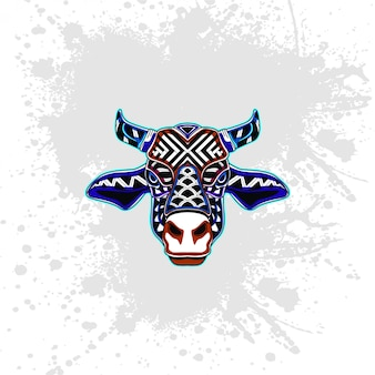 Cow from abstract decorative pattern