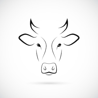 牛の銃口のシルエット