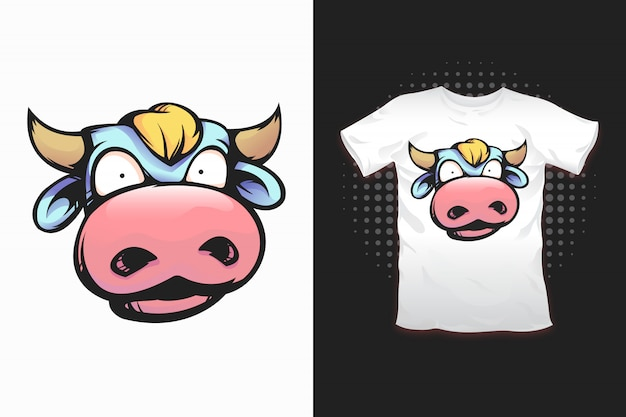 Cow print for t-shirt design
