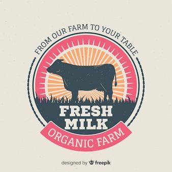 Cow silhouette milk logo