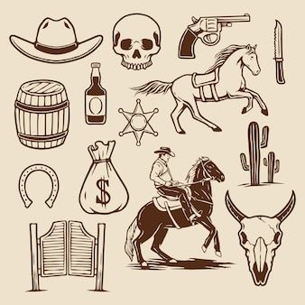 Коллекция элементов cowboy