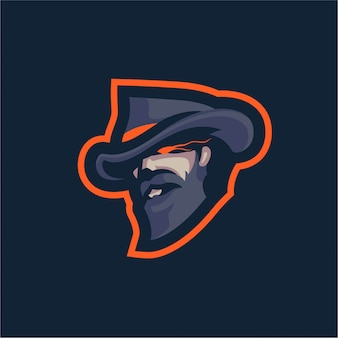 Cowboy ghost mascot