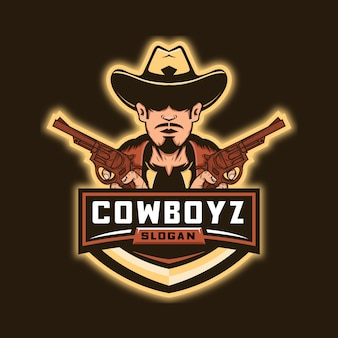 Cowboy and guns esport logo