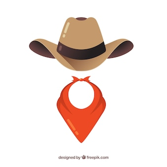 Cowboy hat and scarf elements