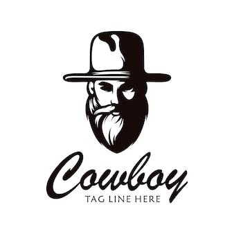 Шаблон логотипа ковбой