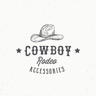 Cowboy rodeo accessories abstract  sign, symbol or logo template.