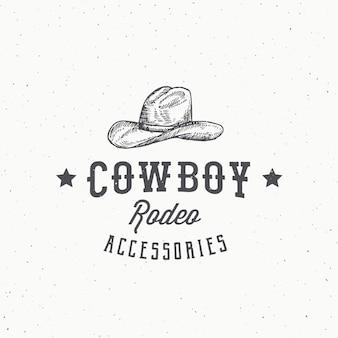 Ковбойские аксессуары для родео абстрактный знак, символ или шаблон логотипа.
