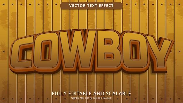 Cowboy text effect editable eps file
