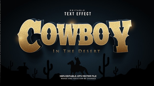 Cowboy text effect