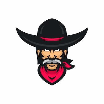 Cowboy vector logo icon illustration