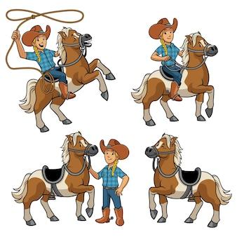 Набор пастушка и лошадь