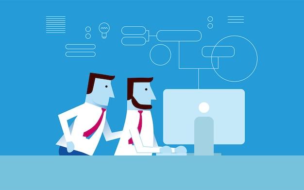 Coworker collaborate creative idea business concept