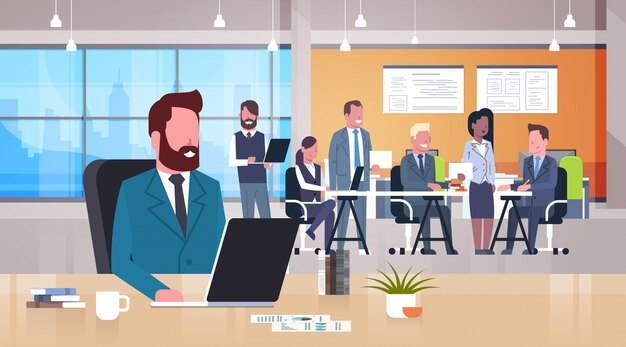 Coworking business place illustration