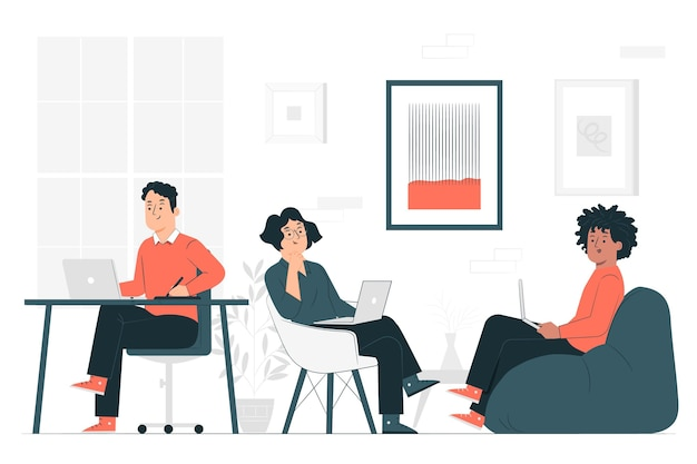 Coworkingconcept illustration