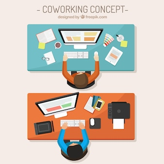 Coworking illustrazione del concetto