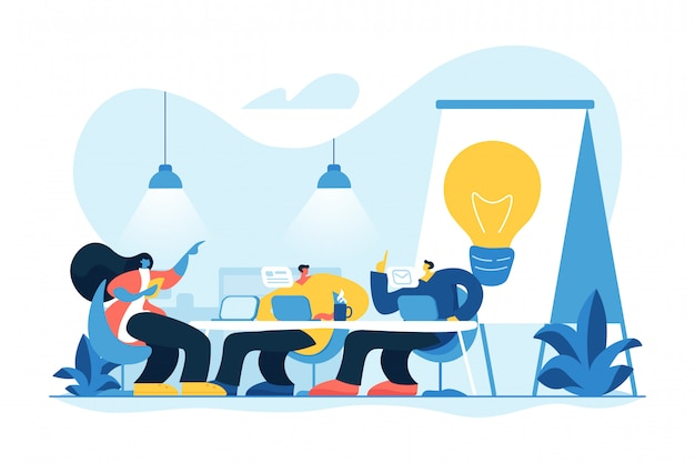 Coworking concept vector illustration
