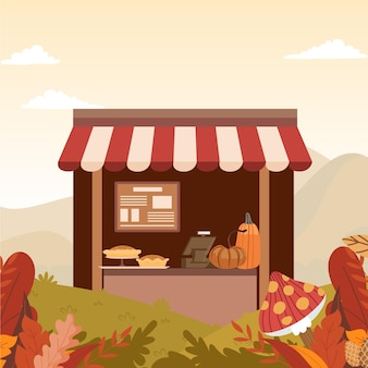 아늑한 가을 카페 그림