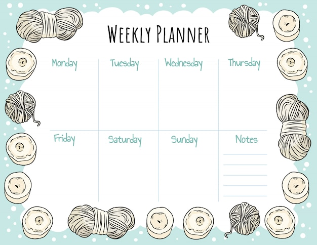Cozy boho weekly planner and to do list with candles and yarn ornament. cute template for agenda, planners, check lists. stationary mockup