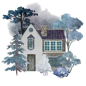 수채화 디자인의 아늑한 컨트리 하우스