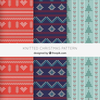 Cozy knitted christmas patterns