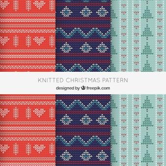 아늑한 니트 크리스마스 패턴