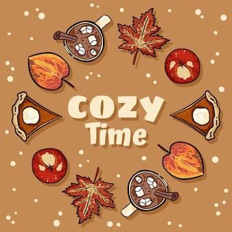Cozy time decorative wreath cute cozy