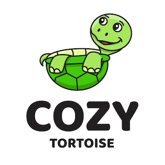 Уютная черепаха милый логотип