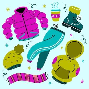 Accogliente confezione di vestiti invernali