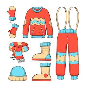 Set di vestiti invernali accoglienti