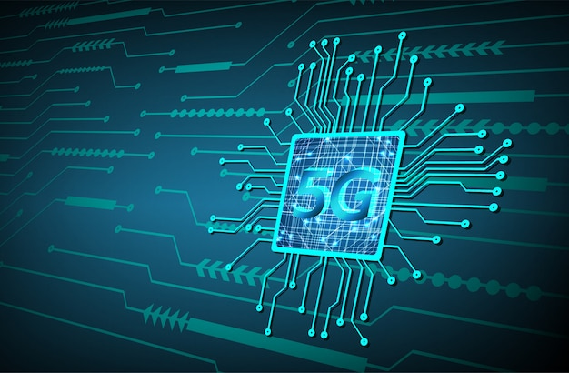 Cpu 5gブルーサイバー回路の将来の技術コンセプトの背景