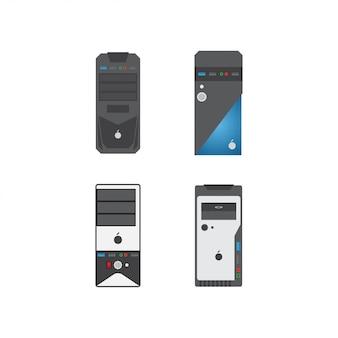 Cpu case graphic design template