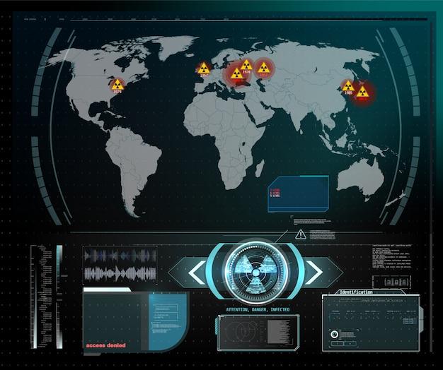量子コンピューター、大規模なデータ処理、データベースの概念。cpu等尺性バナー。中央コンピュータープロセッサcpuコンセプト。デジタルチップ青色の背景にライト付きの未来的なマイクロチッププロセッサ。