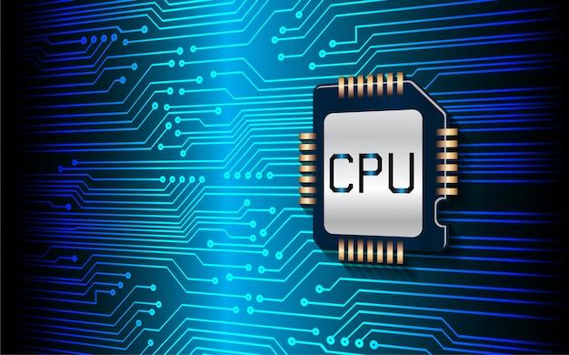ブルーcpuサイバー回路将来の技術コンセプトの背景