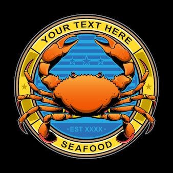 Логотип ресторана краб
