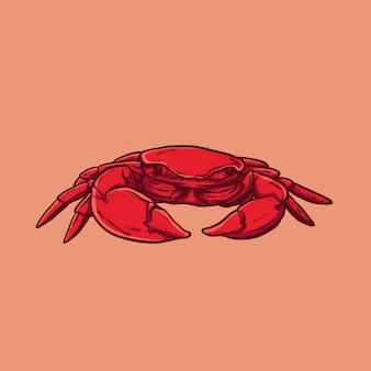 Crab sketch hand drawn
