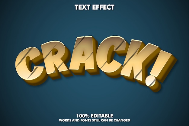 텍스트 효과 균열, 만화 글꼴 효과